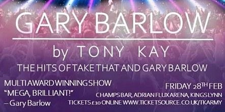 Gary Barlow by Tony Kay. The Hits of Take That and Gary Barlow