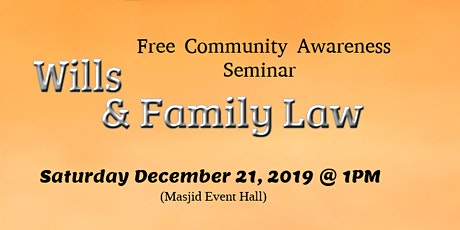 Will & Family Law tickets