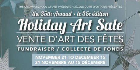 35th Annual Holiday Art Sale billets