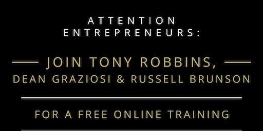 POWERHOUSE Webinar with Tony Robbins, Dean Graziosi, and Russell Brunson
