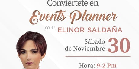 Taller conviértete en events Planner tickets