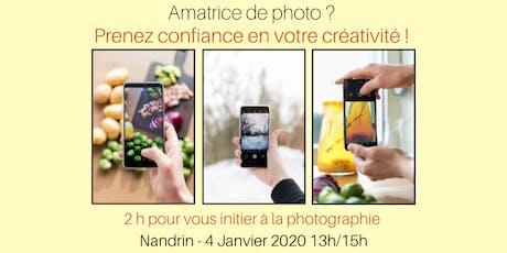 Atelier photo smartphone  : 2h pour s'initier à la photographie  tickets