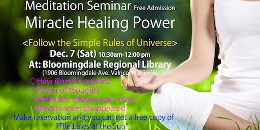"""Meditation Seminar """"Miracle Healing Power"""""""