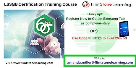 LSSGB Classroom Training in Industry, CA tickets