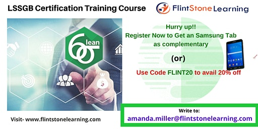 LSSGB Classroom Training in Industry, CA