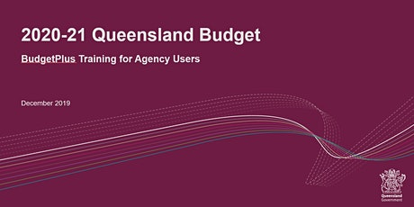BudgetPlus Training for Agency Users tickets