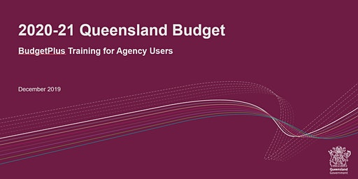 BudgetPlus Training for Agency Users