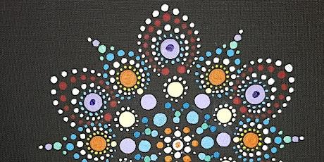 Black Mandala Painting Art Class  tickets