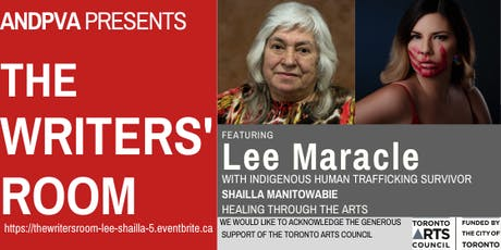 The Writers' Room workshop featuring Lee Maracle and Shailla Manitowabie 5 tickets