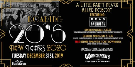 Roaring 20's - New Years 2020 - Ranchman's tickets