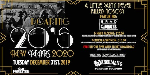 Roaring 20's - New Years 2020 - Ranchman's