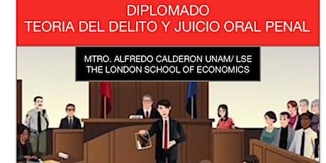 Diplomado Teoría del Delito y Juicio Oral Penal boletos