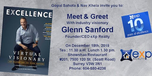 Meet and Greet with Glenn Sanford (Founder eXp Realty)