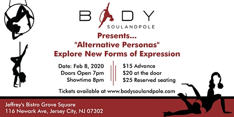 "Body Soul and Pole Presents ""Alternative Personas"" tickets"