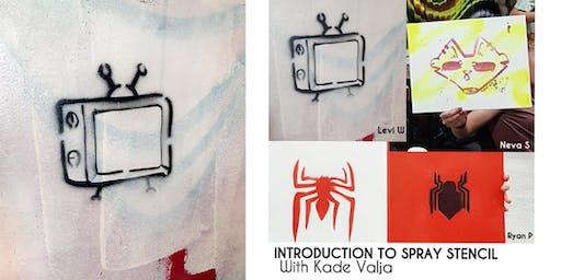 Introduction to Spray Stencil for Yr. 7 - Yr. 9 with Kade Valja