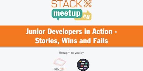 STACK-X x JuniorDevSG: Junior Developers in Action - Stories, Wins & Fails tickets