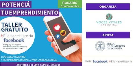 Workshop #ellahacehistoria de FACEBOOK en Rosario entradas