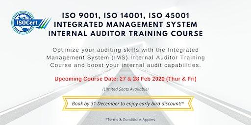 ISO 9001, 14001, 45001 (IMS) Internal Auditor Trai