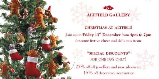 Christmas Shopping day at ALTFIELD GALLERY