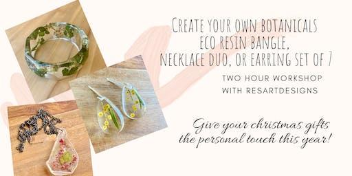 ResArtDesigns Eco Resin Botanical Jewellery Workshop