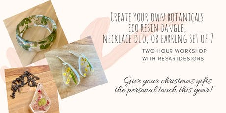 ResArtDesigns Eco Resin Botanical Jewellery Workshop tickets