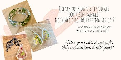 ResArtDesigns Eco Resin Botanical Jewellery Workshop tickets