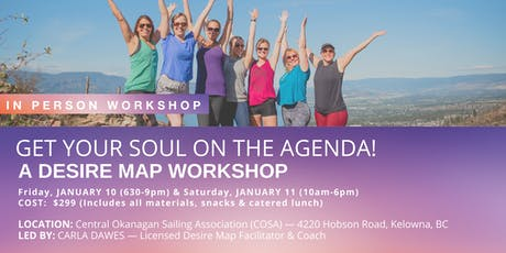 Get Your Soul on the Agenda — A Desire Map Workshop for an Amazing 2020!! tickets