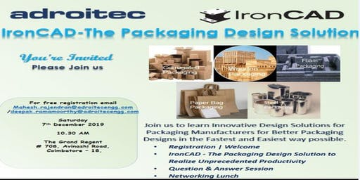IronCAD - The Packaging Design Solution: At Coimbatore - The Grand Regent