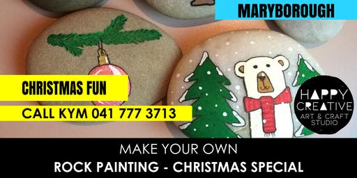 Family Rock Painting - Christmas (Saturday 7th Dec)