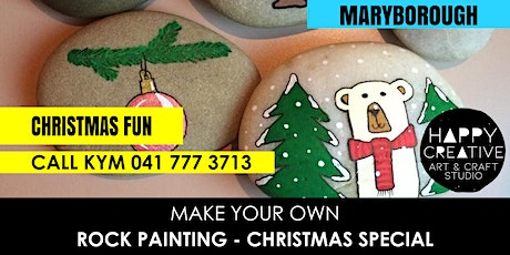 Family Rock Painting - Christmas (Thursday 19th Dec) tickets