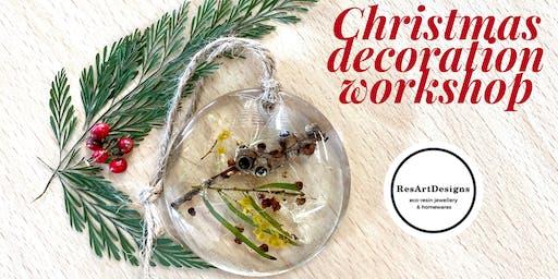 ResArtDesigns Eco Resin Botanical Christmas Decoration Workshop