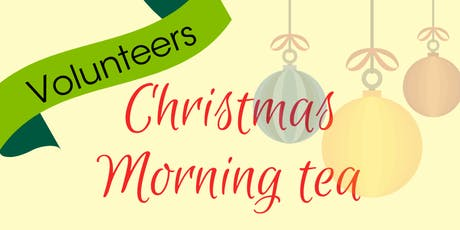 Volunteers morning tea tickets
