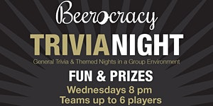 Charity Trivia - Group based with Special Theme Nights
