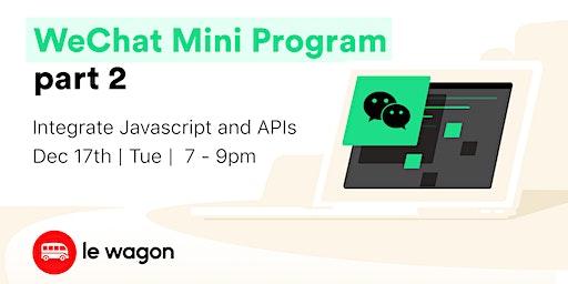WeChat Mini Program part 2