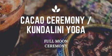 Full Moon Sacred Cacao Ceremony / Kundalini Yoga Immersion tickets