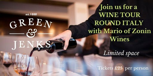 Wine Tasting - A Tour Around Italy with Zonin Wines