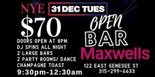 NEW YEARS EVE PARTY @ Maxwells - Syracuse, NY