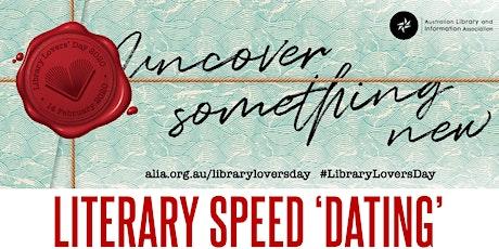 Literary Speed 'Dating' tickets