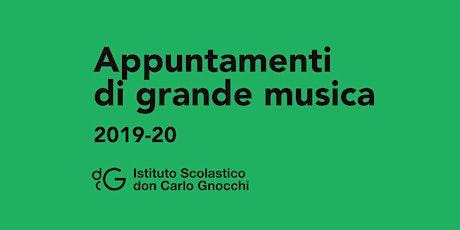 Concerto per pianoforte a quattro mani biglietti