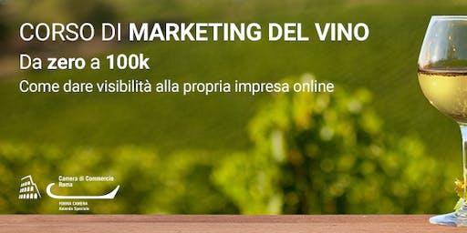 Marketing del Vino - da zero a 100k
