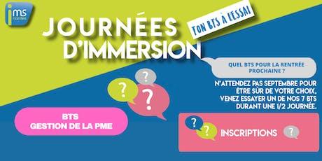 JOURNÉES D'IMMERSION BTS GPME billets