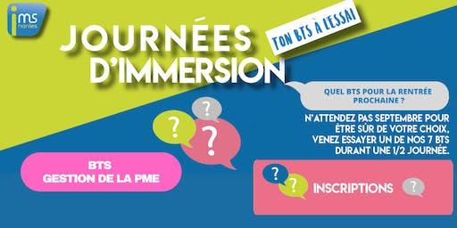 JOURNÉES D'IMMERSION BTS GPME