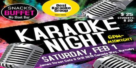 Desi Karaoke Night tickets