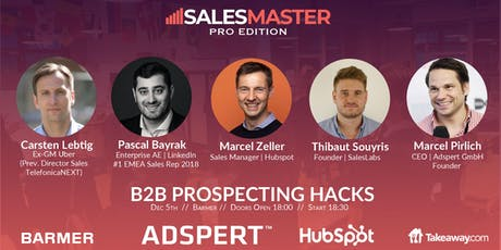 SalesMaster [Pro]   PROSPECTING HACKS FOR B2B SALES tickets