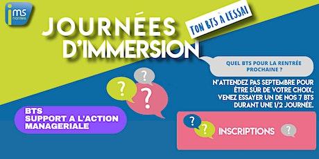JOURNÉES D'IMMERSION BTS SAM billets