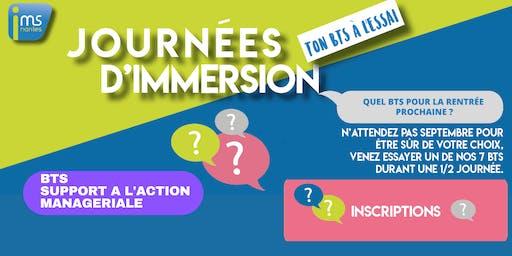 JOURNÉES D'IMMERSION BTS SAM