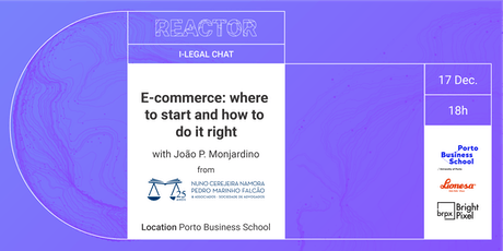i-Legal Chat: E-Commerce- where to start and how to do it right bilhetes
