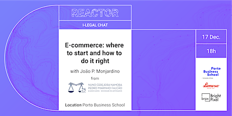 i-Legal Chat: E-Commerce- where to start and how to do it right tickets