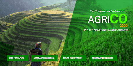 The 7th International Conference on Agriculture 2020 tickets
