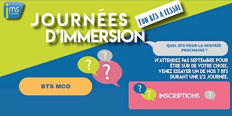JOURNÉES D'IMMERSION BTS MCO billets